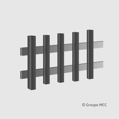 clotures portes de garage portails en composite. Black Bedroom Furniture Sets. Home Design Ideas