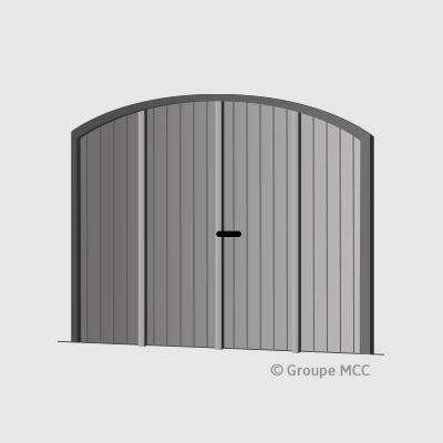 Clotures portes de garage portails en composite for Porte garage en aluminium